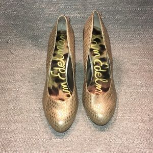 Sam Edelman Snake Skin Fancy Stilettos Sz 10M